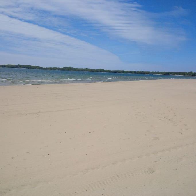 beautiful white sand beach!