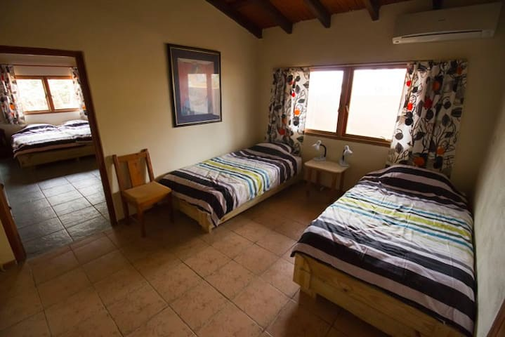 Two single beds - main house