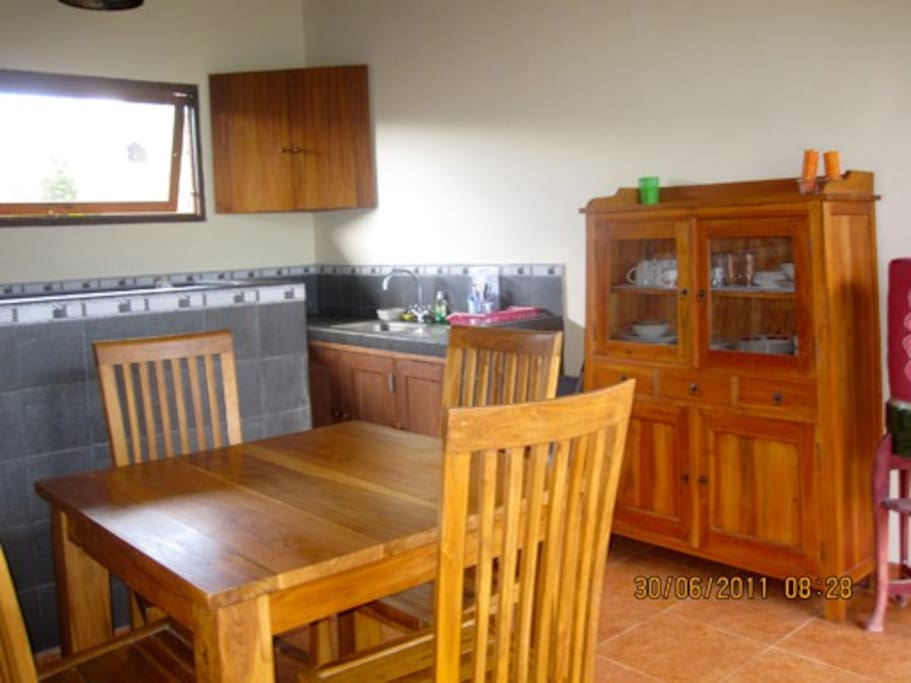 Complete kitchen and dining terrace