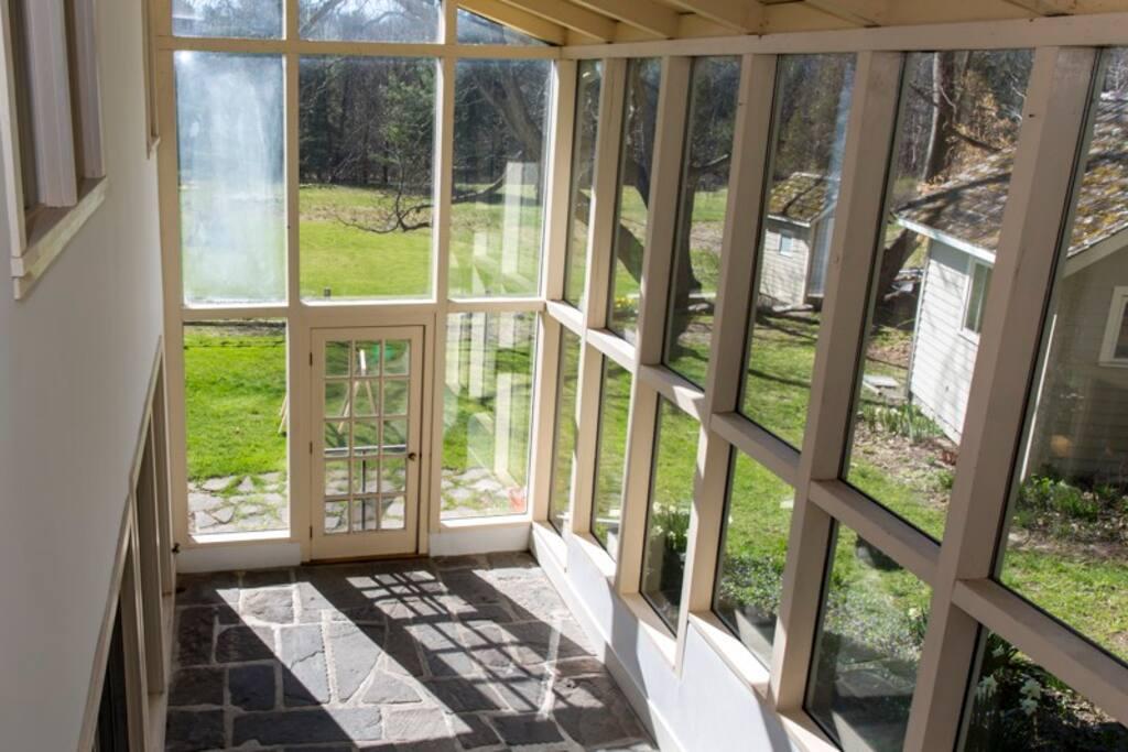 Three season room/greenhouse.