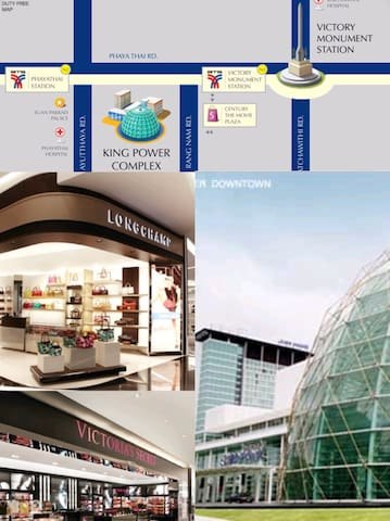King Power Duty Free Complex Downtown, Rangnam Rd. At BTS Victory Monument.(Only 1 station from BTS Sanampao)