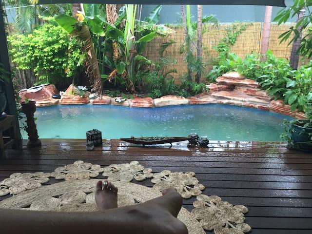The Blue Lagoon poolside studio