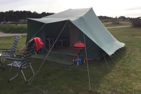 Kant-en-klaar kamperen op Vlieland! Vlak aan zee. - Oost-Vlieland - 帐篷