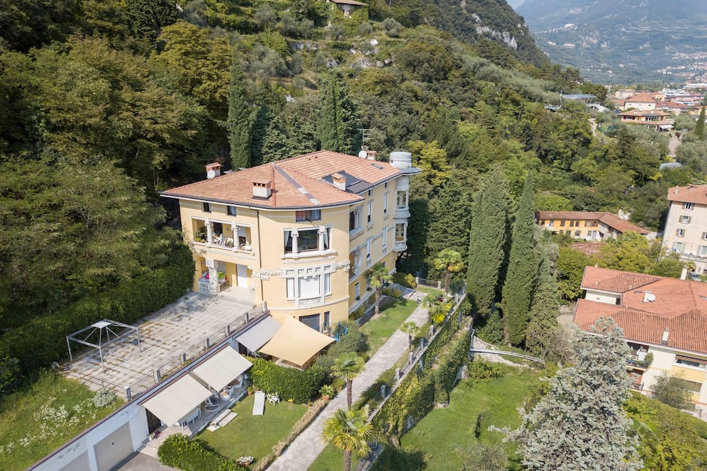 The Villa taken from the sky with a drone