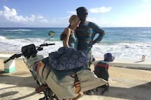 We meet interesting people with interesting ideas daily.  Fancy touring the island by motorbike?