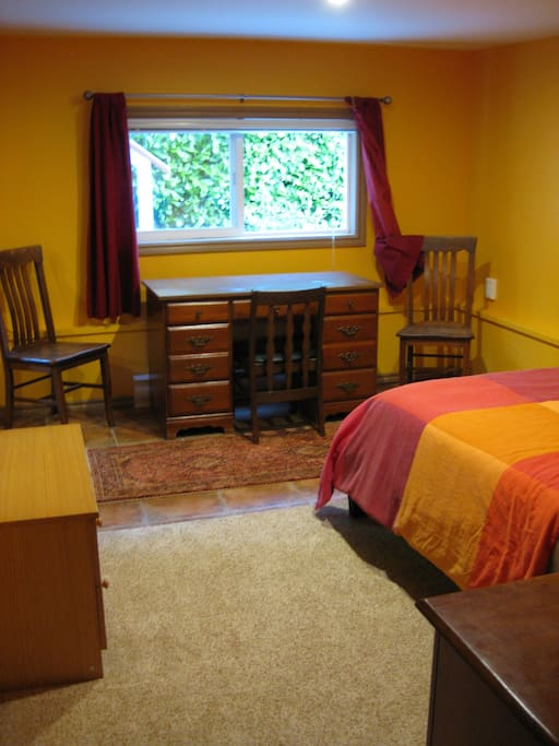Desk in the bedroom