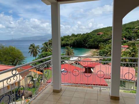 Anse Dufour : Appartement F2 avec vue mer