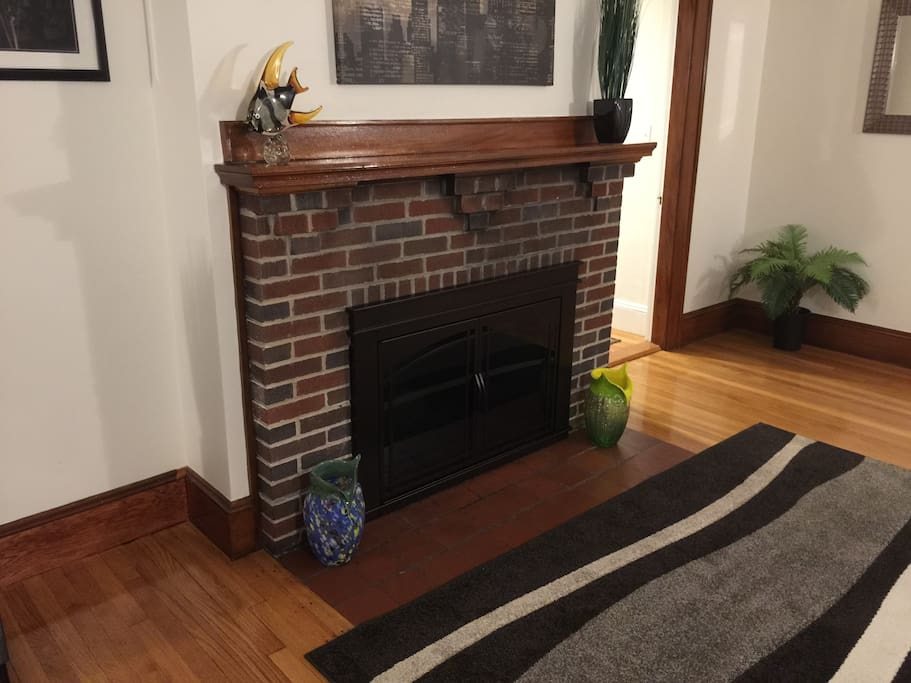 The fire place is decorative