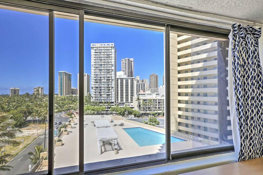 Admire fabulous views through the large bay window.