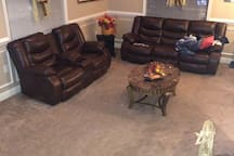 Living Room Picture looks narrow . But is very large we have had large Family Gatherings