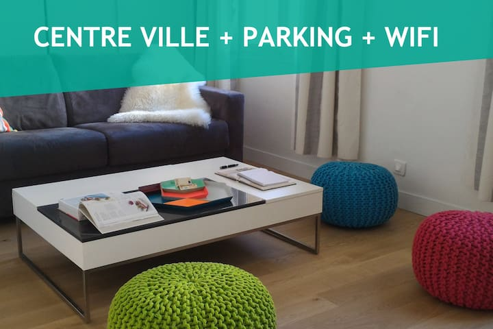 2 rooms flat in the heath of Nice with car park