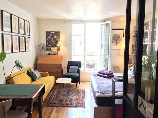 Charming studio on Canal St Martin