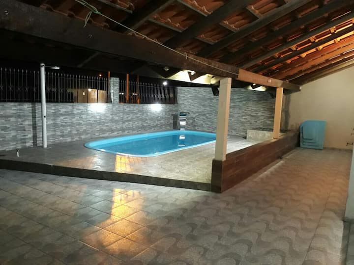 Casa com piscina no Litoral  do Paraná - Com WiFi