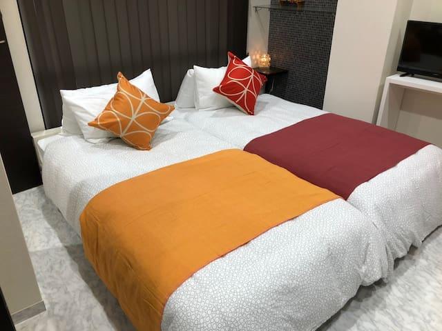 ◆101◆2名まで宿泊可。熊本城、くまモンスクエア、阿蘇、水前寺公園、天草、高千穂、島原観光にも便利