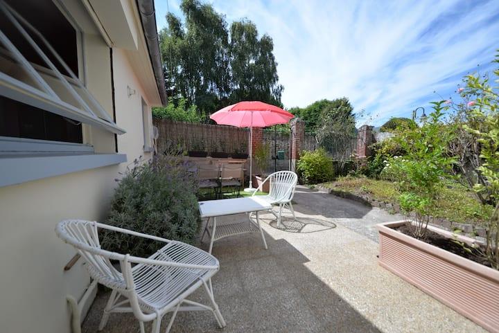 Pte maison plein centre-Terrasse jardin champêtre
