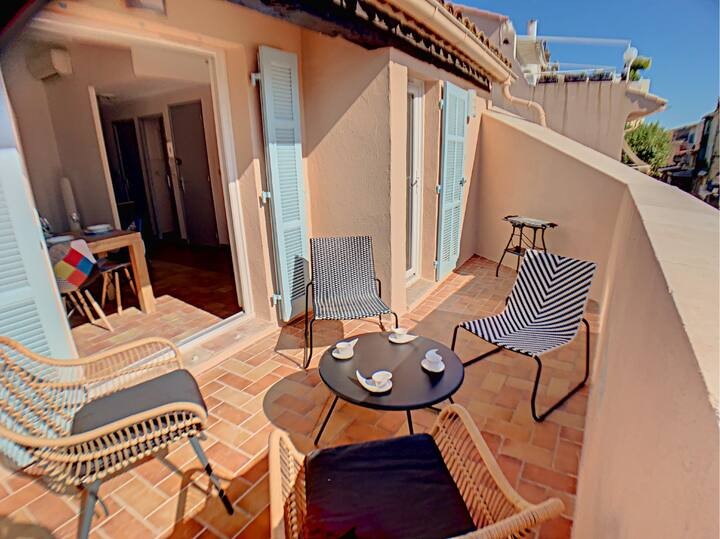 Superbe appartement terrasse vue mer, hyper centre