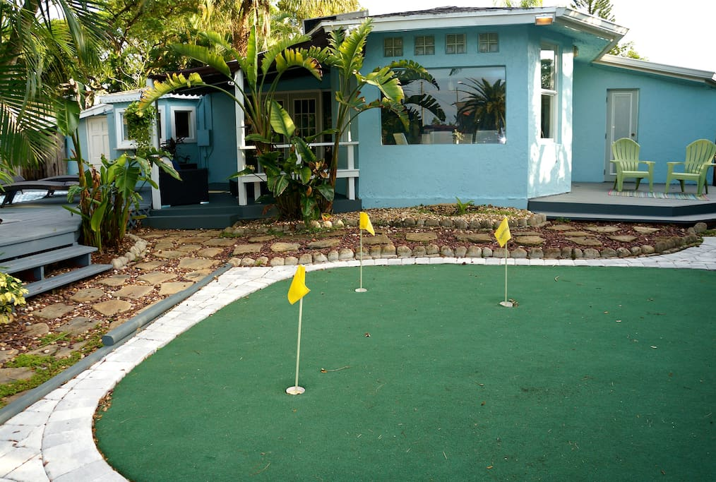 Work on your game. Putting green.