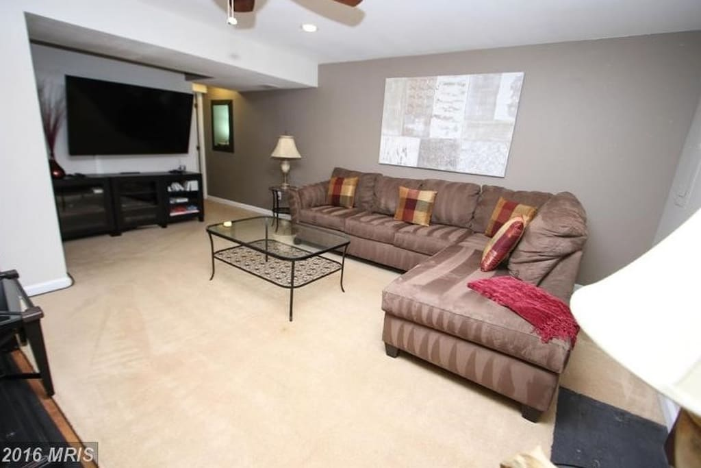 Living Space with walkout