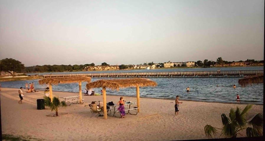 Community beach near downtown  Granbury    6 miles from house