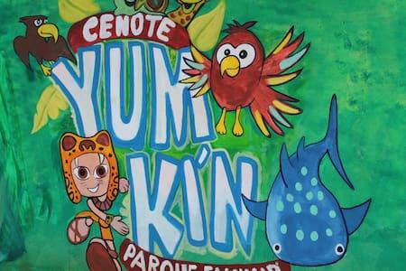 Cabañas  Yum Kim (cenote) - Leona Vicario
