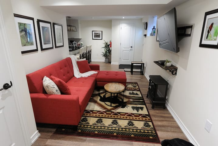 Kick back and relax in your spacious living room.......