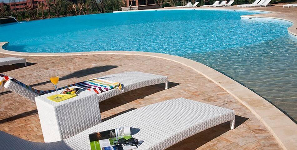 Luxueux Appart +Piscines + Fitness - Ouahat Sidi Brahim - Apartamento