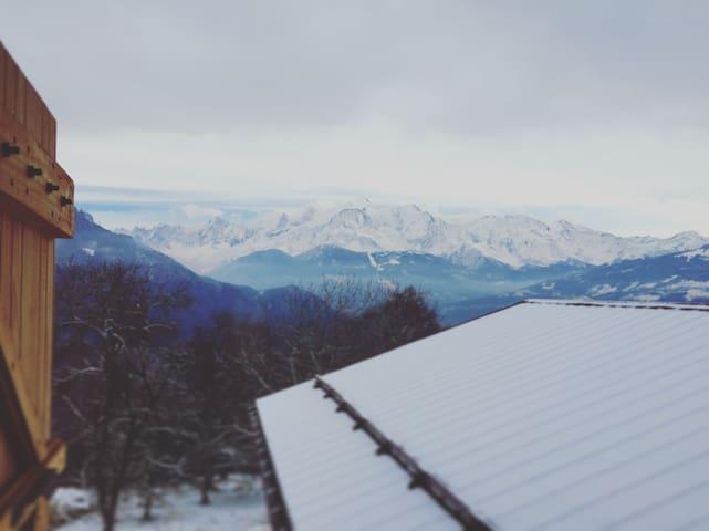 Chalet vue Mont-Blanc - Montagne TinyHouse / Cabin