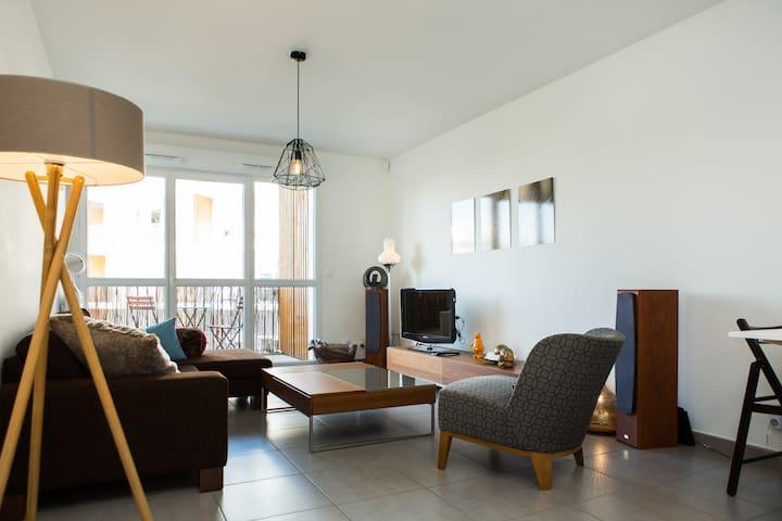 Cosy Appartement de 2 chambres, Quartier Chartrons - Bordeaux - Appartement en résidence