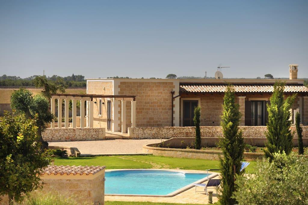 Villa con piscina privata ville in affitto a corigliano - Piscine a lecce ...