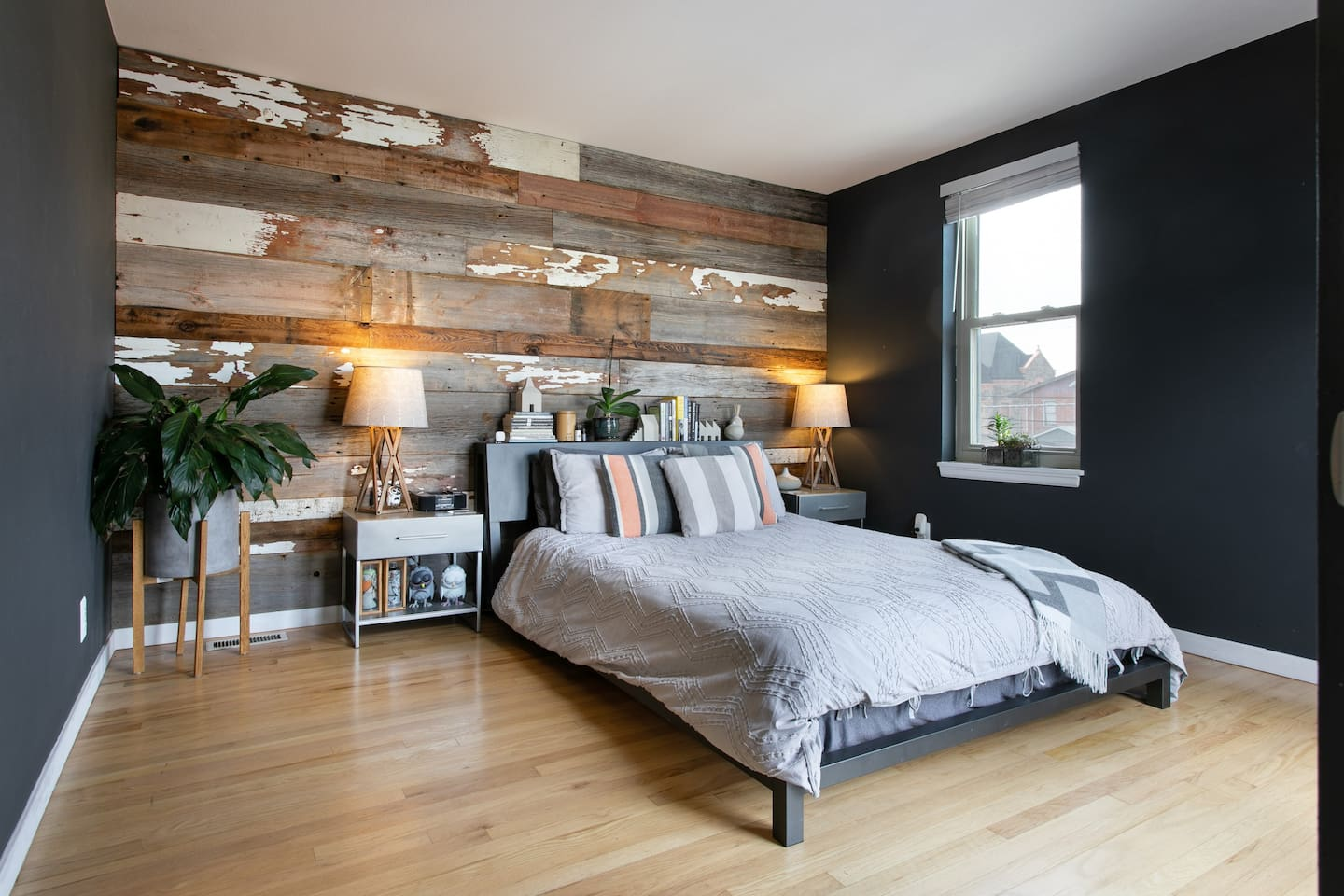 Your master bedroom with plenty of welcoming accents.