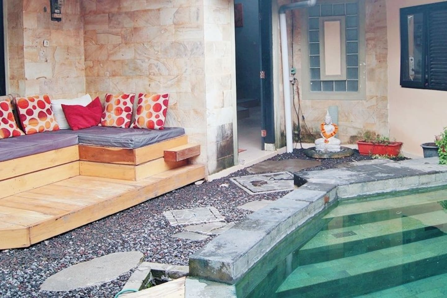 outdoor lounge pool area