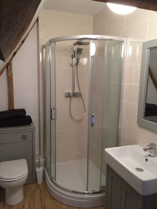 Modern Shower room with power shower