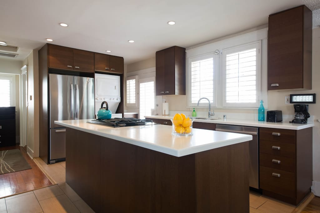 Prepare a gourmet meal from the local Farmer's Market in the remodeled kitchen!