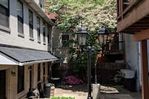 Your Airbnb is tucked away in a unique courtyard in the middle of the city!