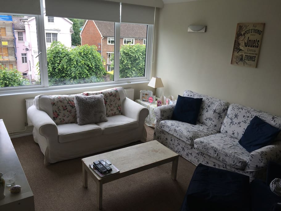 The Sitting Room has two sofas and armchair