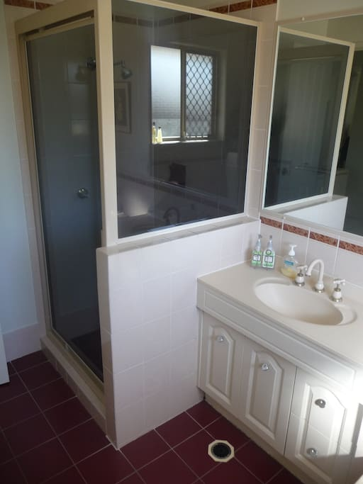 Bathroom - other half which includes the shower