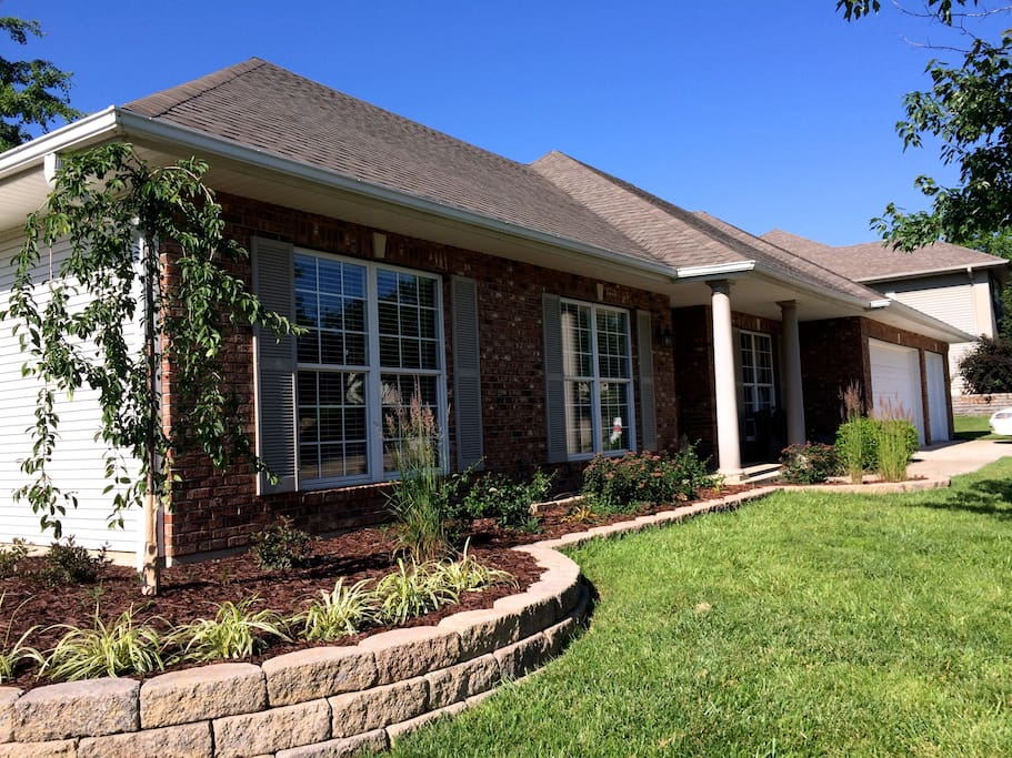 Professionally landscaped.