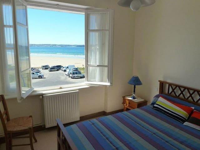 Superbe vue sur la mer et la plage de kervel ! - plonevez porzay - Apartment