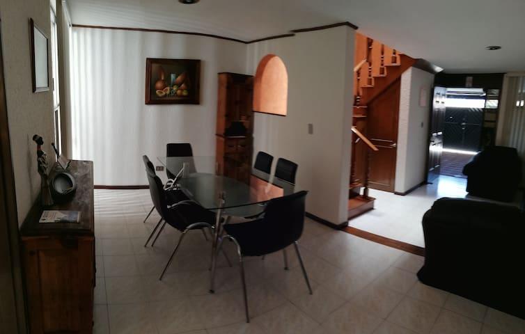 Casa ideal para familias de vacaciones en Puebla