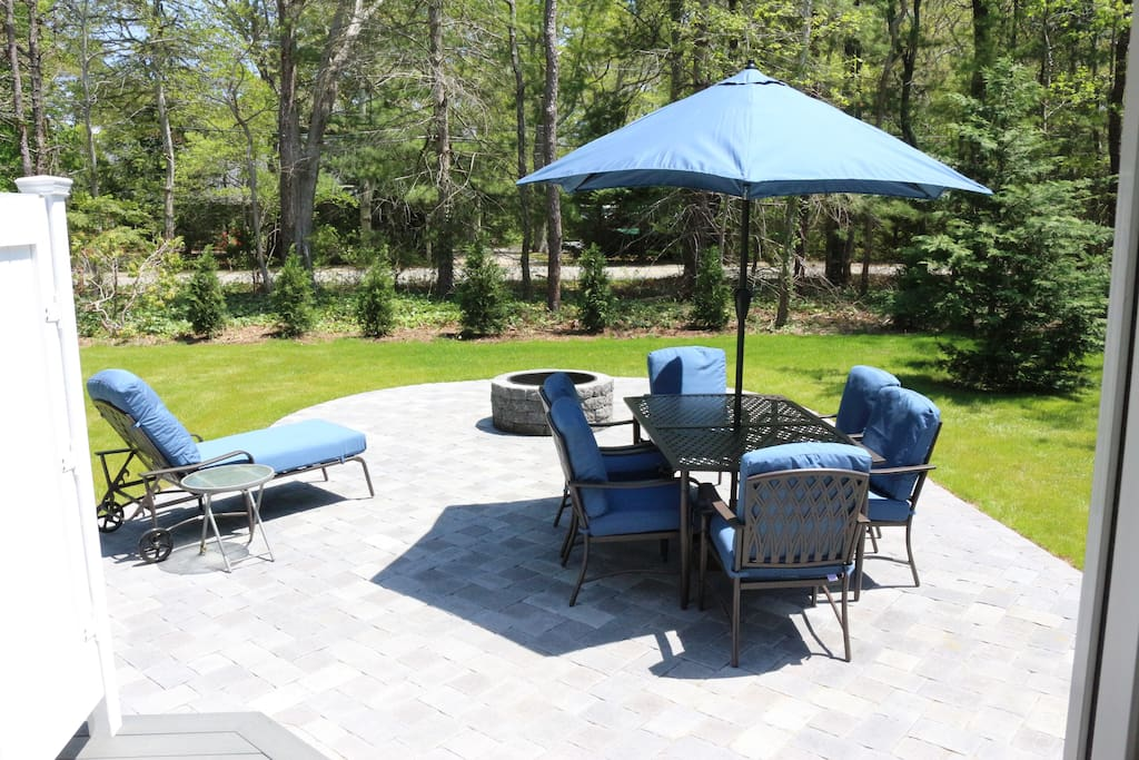 Outdoor patio with new furniture