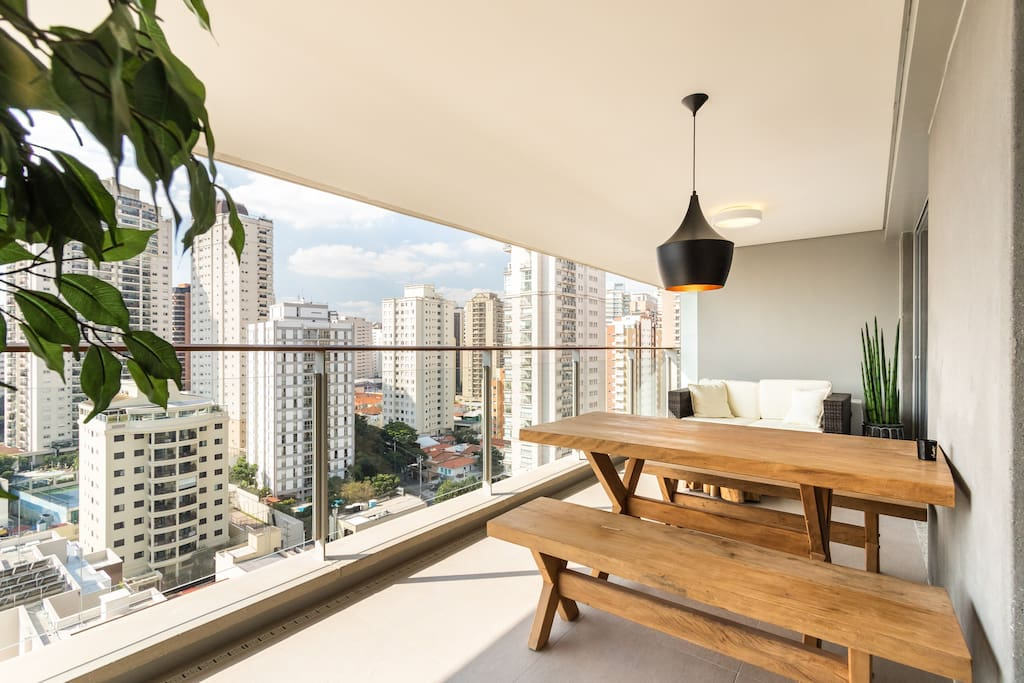 Balcony with great view and trees