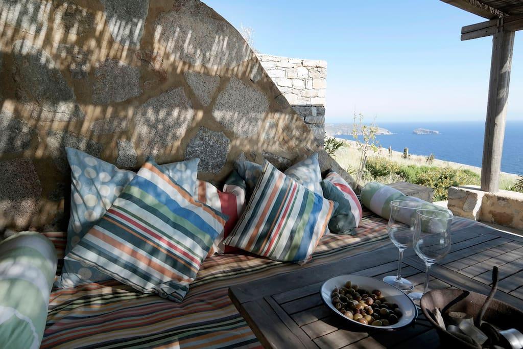terrace dining sofa
