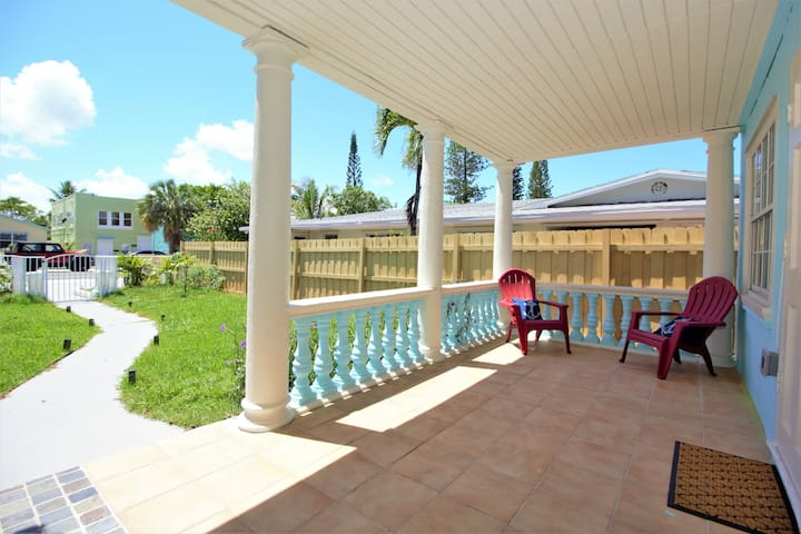 Front porch for relaxing or having a drink!