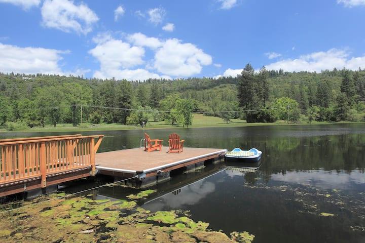 Huge Bass Fishing Pond and Pool/Spa