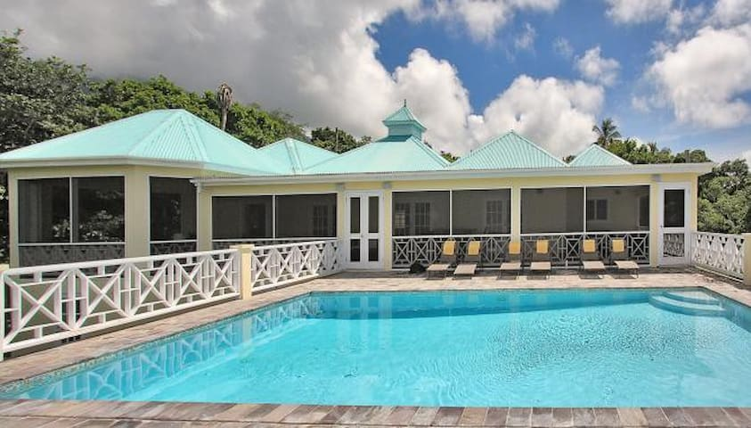 Lime villa ville in affitto a nevis saint kitts e nevis for Piani di casa in stile west indian