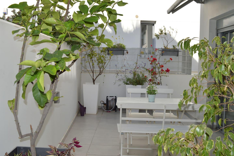 large veranda outside guest room