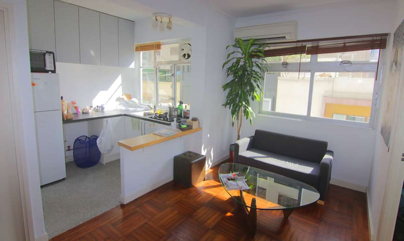 living-room and open kitchen