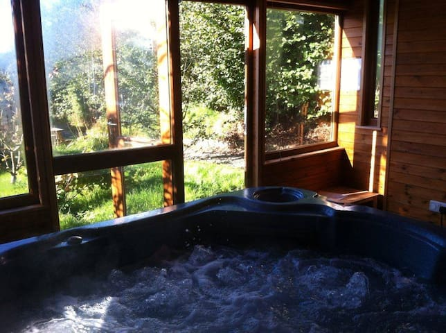 Cottage with Indoor Private Hot Tub - D1