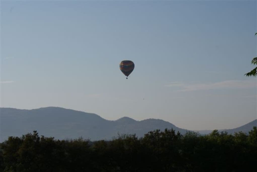 Hot air ballooning is one of the many activities that are on offer in the area