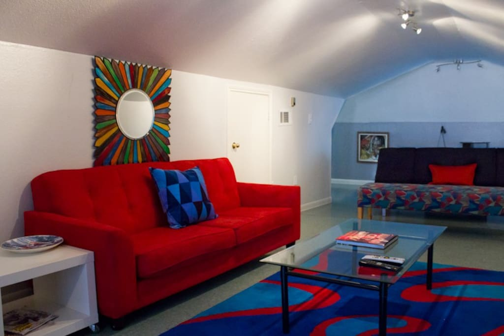 Red Hot Sofa and Euroway Futon and Bench Seating fior Great Gatherings